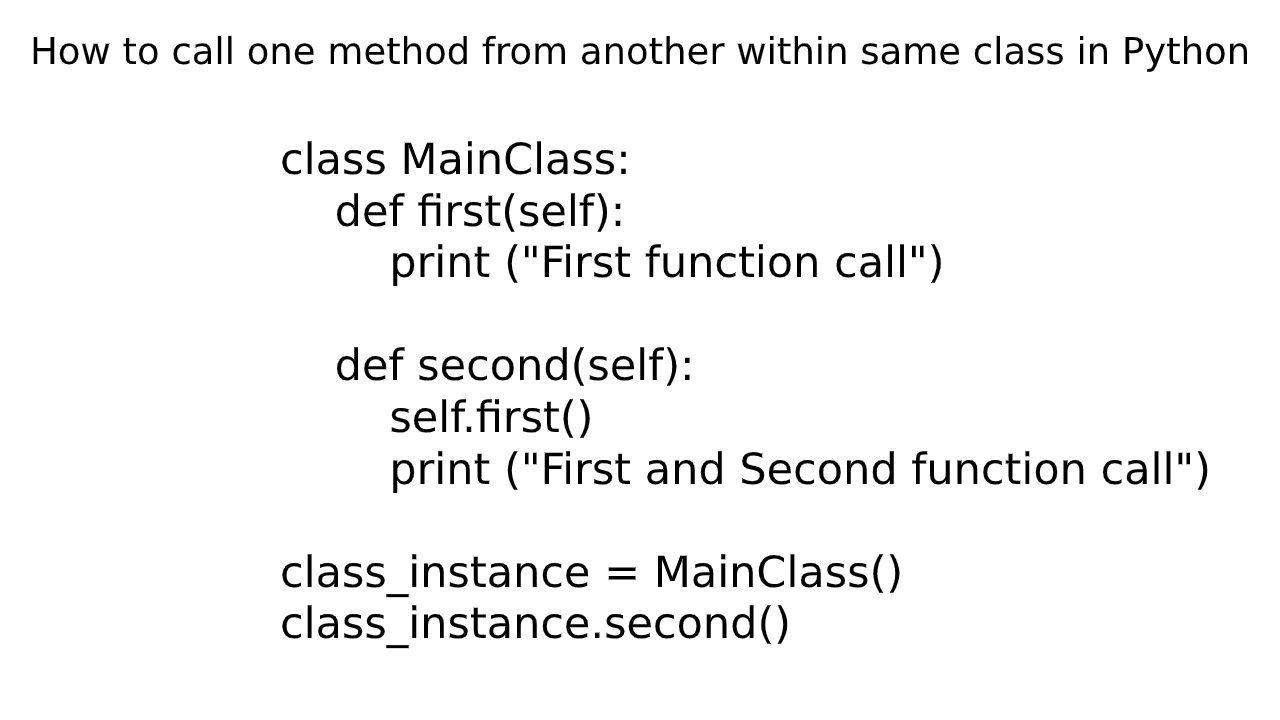 How to call one method from another within the same class in ...